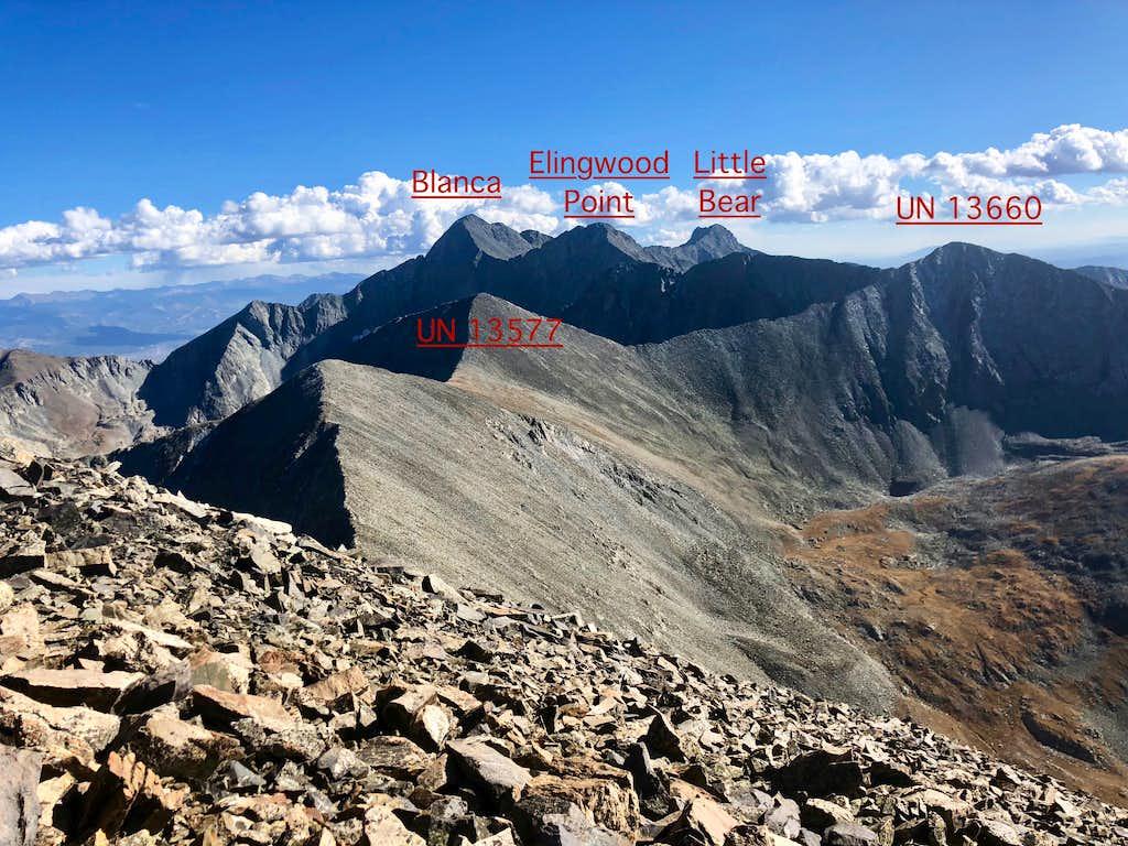 Peaks as seen from California Peak
