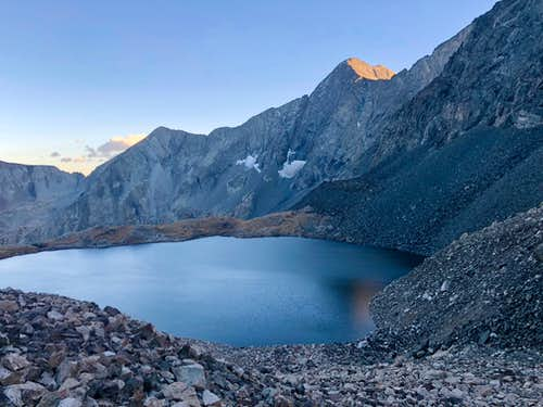 Lily Lake and north face of Blanca Peak