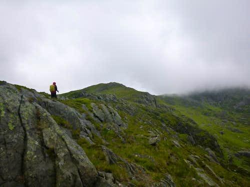 Ken heads off towards the Glyders