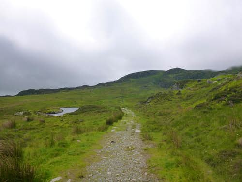 The path up Moel siabod