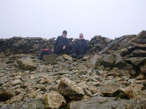 Summit shelter on Moel Siabod