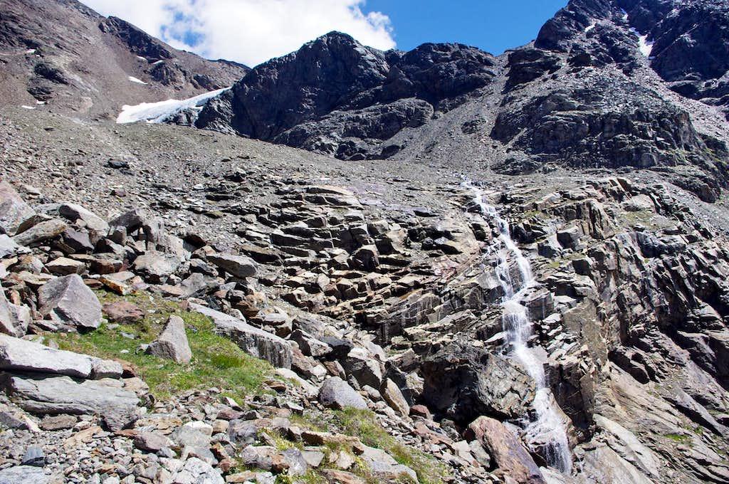 In view of the glacial terminal tongue of Vedretta di Rosim/Rosimferner