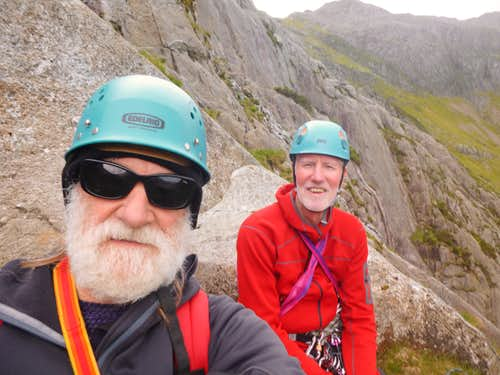 Happy chappies on the belay