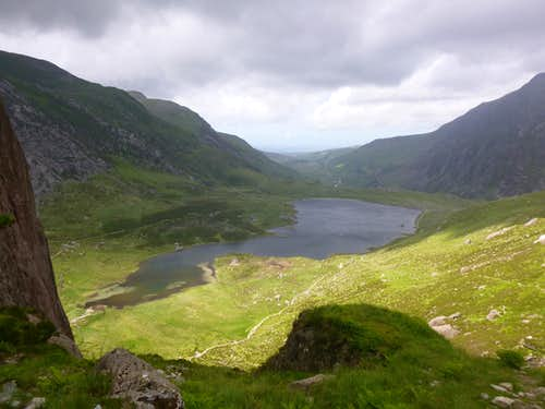 Llyn Idwal from the top of the climb