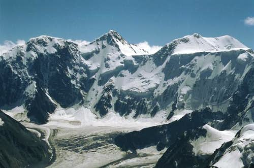 Massif of Belukha from the...