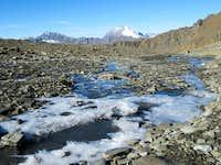 Frozen scenery introducing the Grande Motte