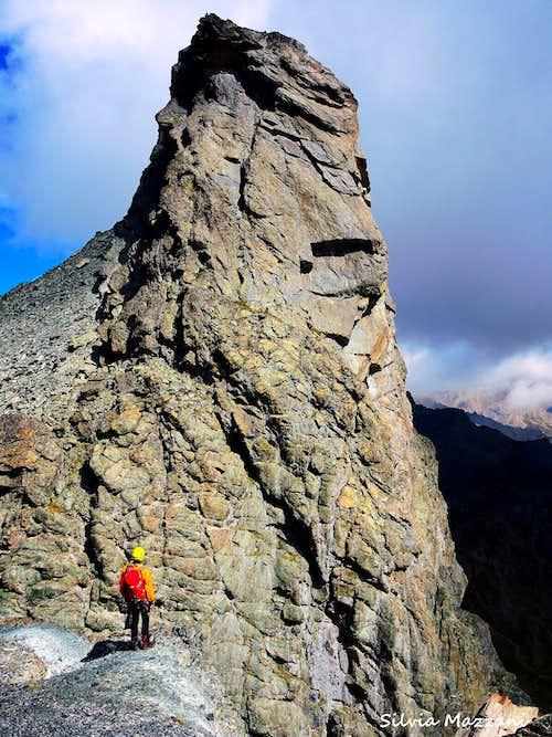 The towering Roc de la Niera,  Valle Varaita