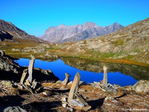 Small lake near Col Longet, Val Varaita