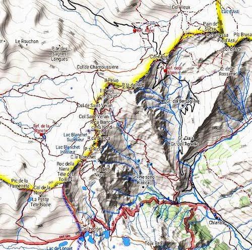 Roc della Niera map