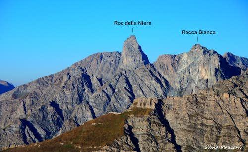 Roc della Niera and Rocca Bianca annotated panorama