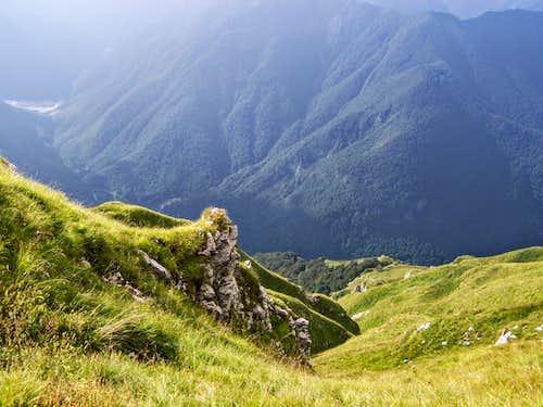 The valley of Torrente Arzino