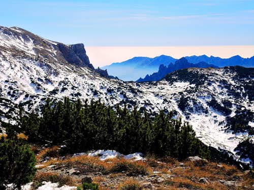 The Pasubio seen from Monte Roite