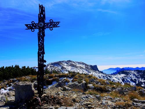 Summit of Monte Roite after a temporary snowfall