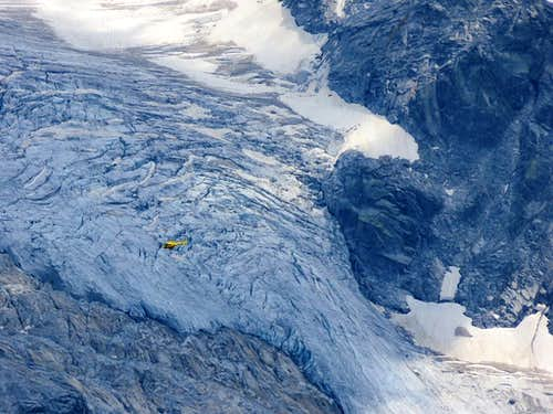 Helicopter in ice