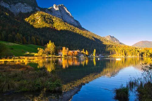 Hintersee lake in autumn