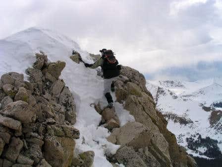Traversing the ridge after...