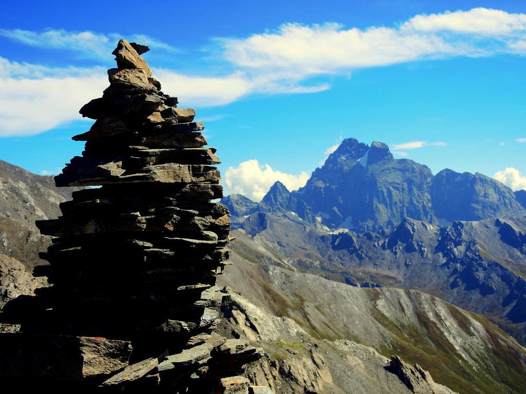 Monte Viso seen from Col d'Asti