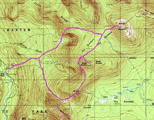 Trail map as best as I can...