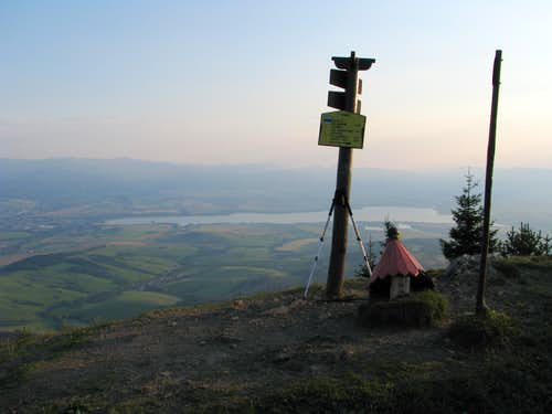 Evening on summit of Babky