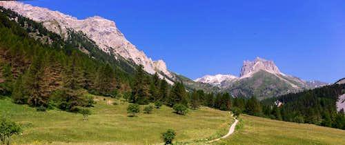 Valle Stretta towards Monte Thabor