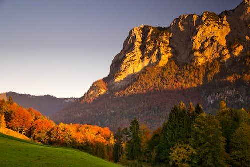 Autumn evening  in Oberjettenberg