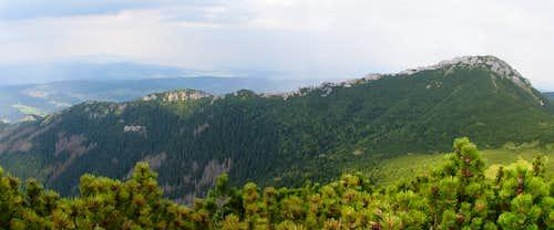 West ridge of Sivý vrch from Ostrá