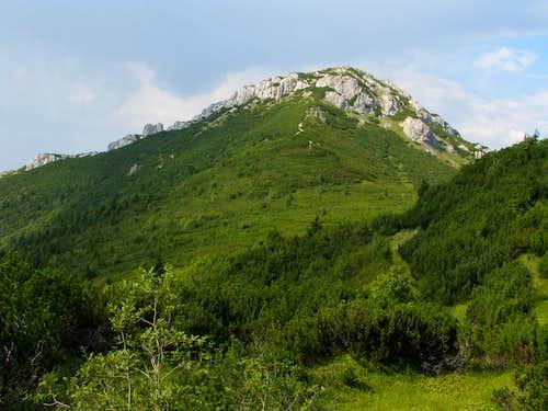 Sivý vrch from Malá Ostrá traverse