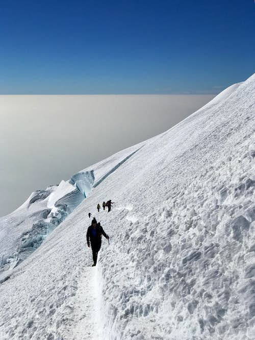 Mount Rainier: Easy Route above/past Disappointment Cleaver