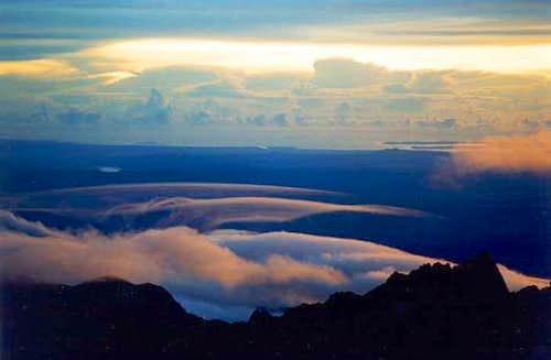 View over the Sabah peninsula...