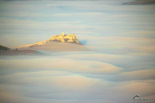 Spis castle over the clouds
