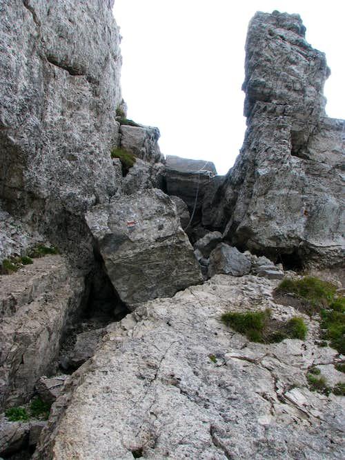 'Crux' of Sivý vrch hike