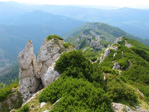Looking down at Radové skaly