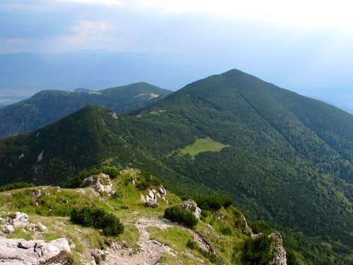 S ridge from Sivý vrch