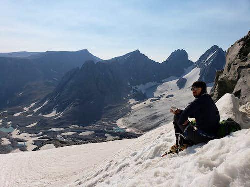 Overlooking Gooseneck Glacier