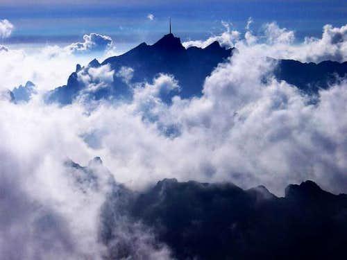 Säntis peak with Liesengrat...