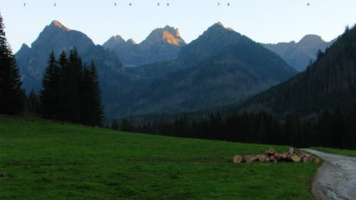 S view from Bielovodská Poľana