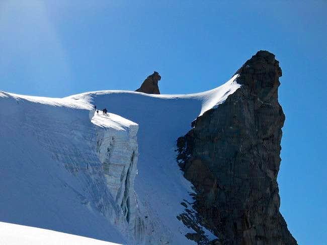 Becca of Moncorve' climbing...