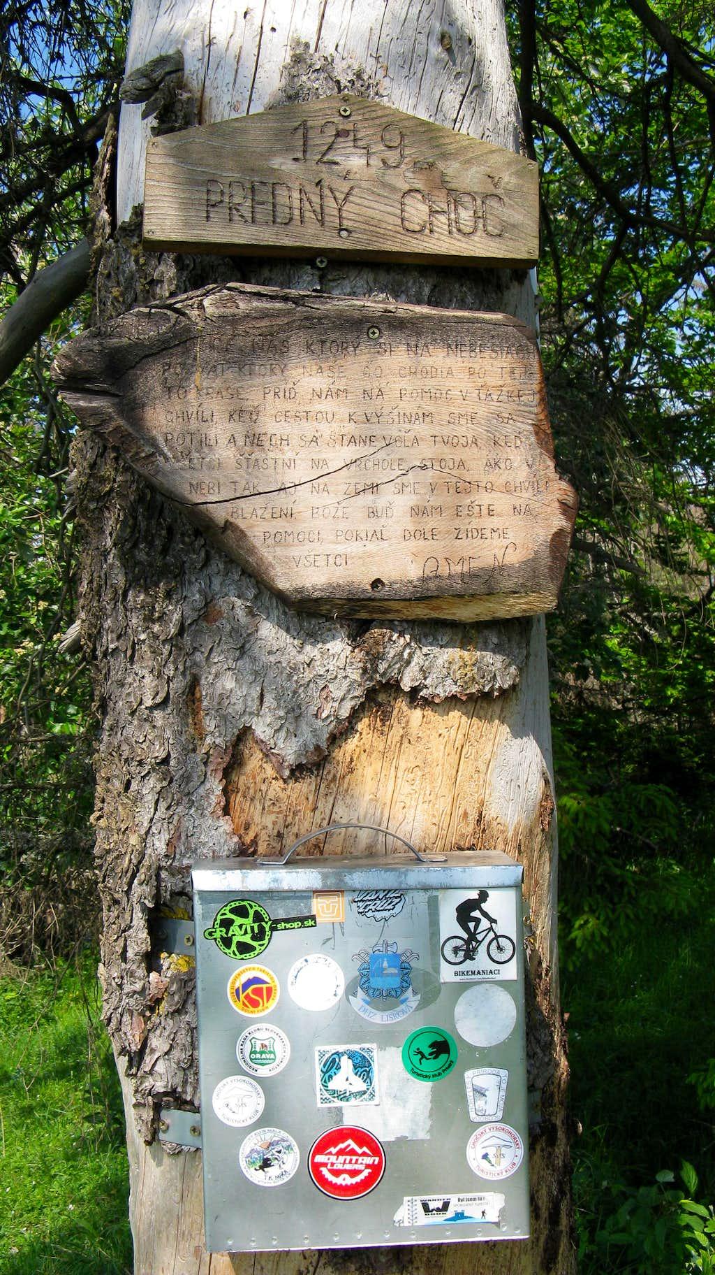 Predný Choč summit tree