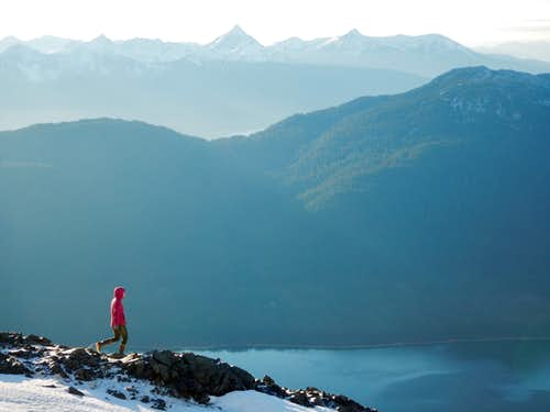 Amazing views of Douglas Island and Gastineau Channel from just below the summit
