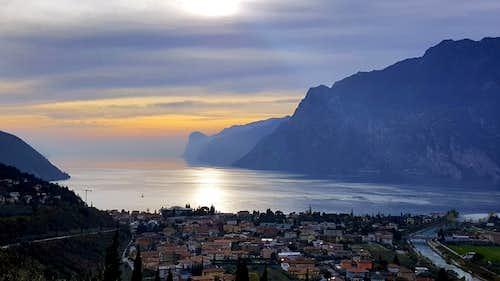 Punta dei Larici and Garda Lake seen from Belvedere