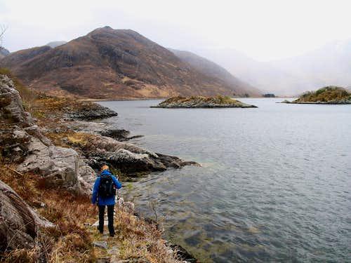 Nearing Corr Eileanan on the Corran coastal path.