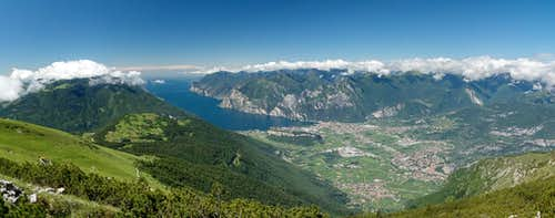 Summit view Lago di Garda