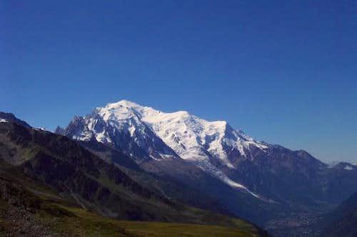 Mont Blanc from Col du Balme