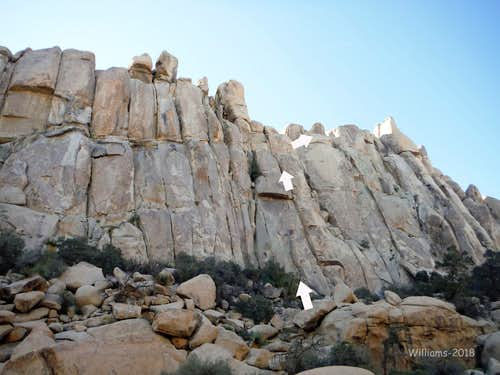 The Fortress, 5.10a-5.12a