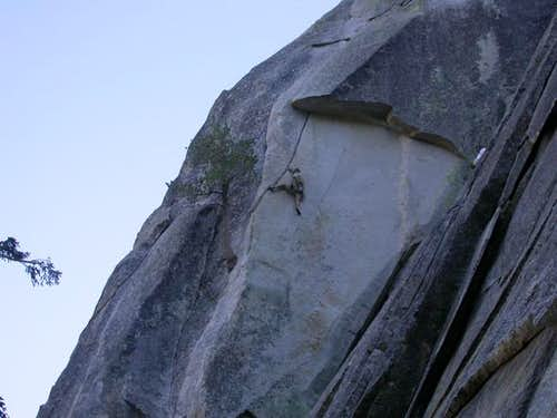 Climbing the second pitch of...
