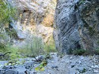 Fletcher Canyon slot area