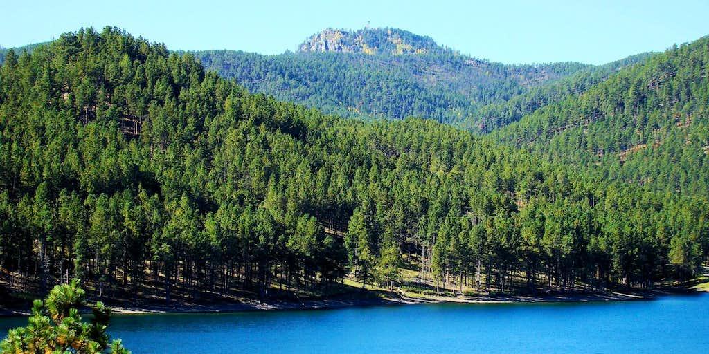 Scruton Mountain and Pactola Lake