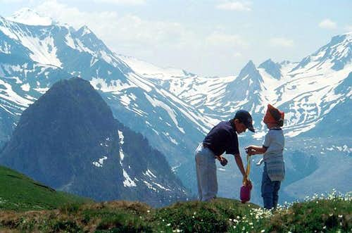 Mountains are born like beaks or horns (Aü), are cut (Coupée) and die like green hills