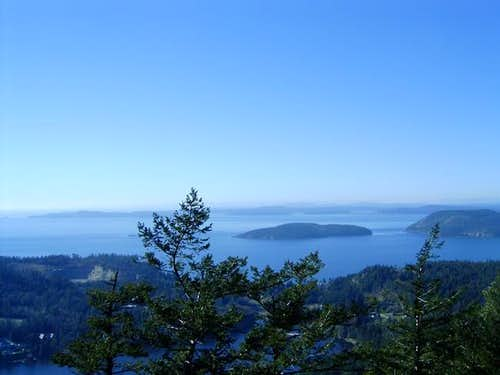 The San Juan Islands from Mt....