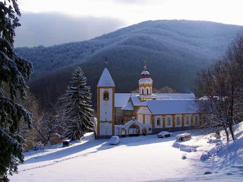 Monastery in a remote landscape